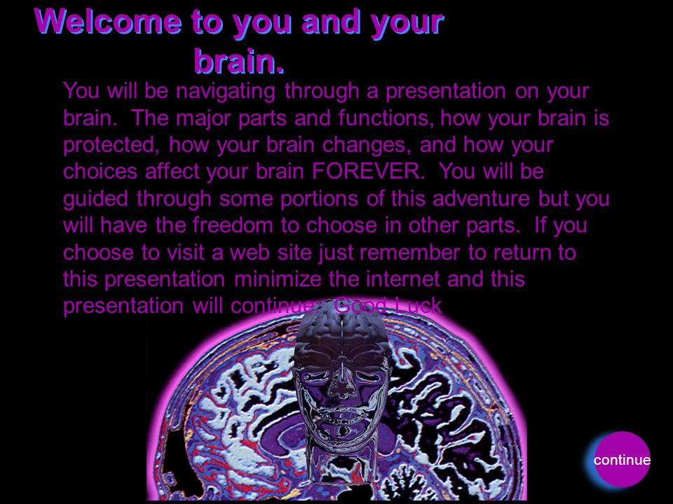 Welcome to you and your brain.