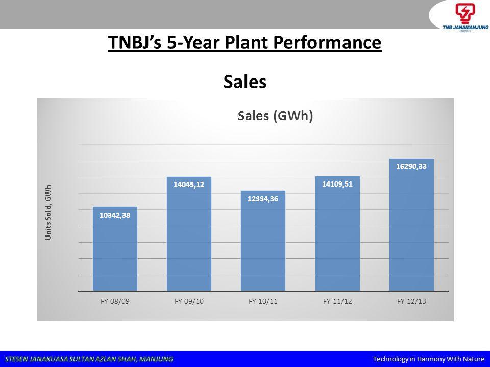 TNBJ's 5-Year Plant Performance
