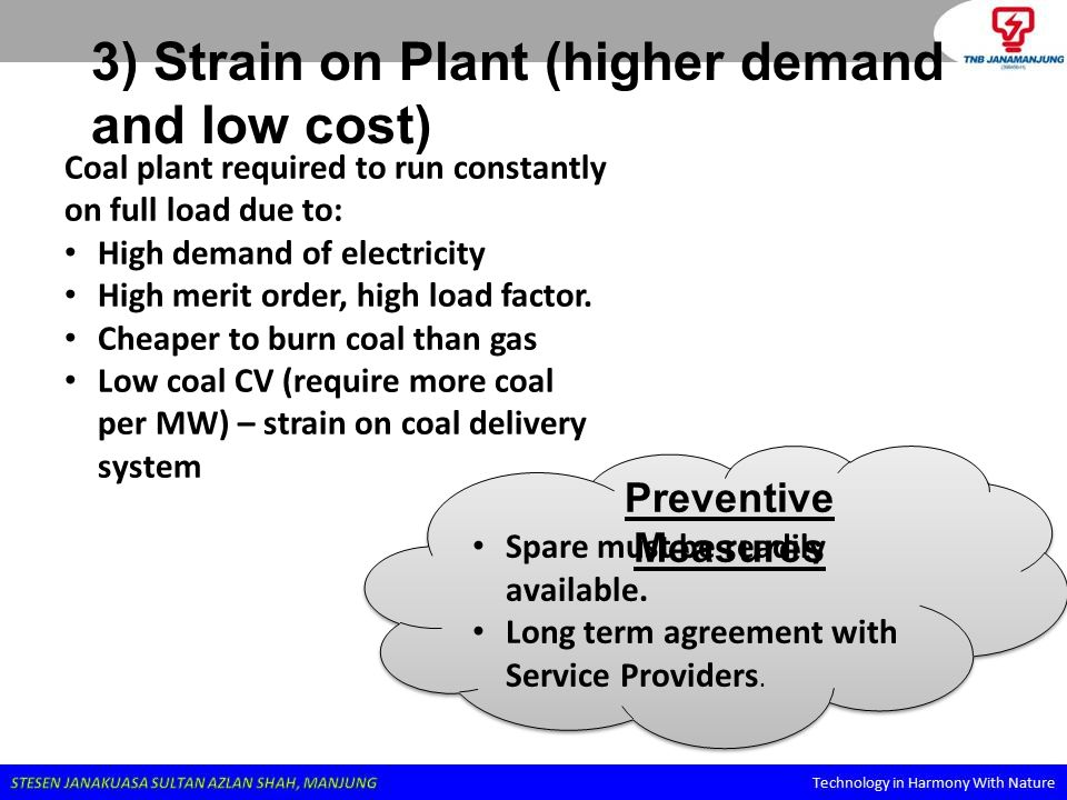 3) Strain on Plant (higher demand and low cost)