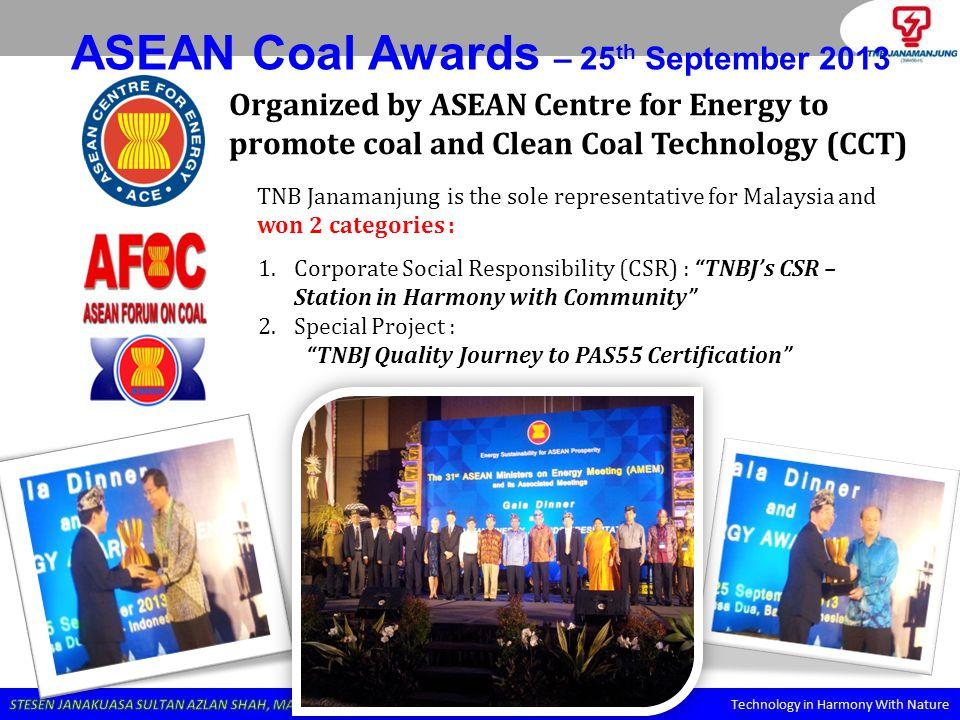 ASEAN Coal Awards – 25th September 2013