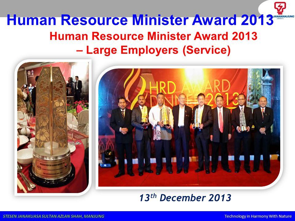 Human Resource Minister Award 2013