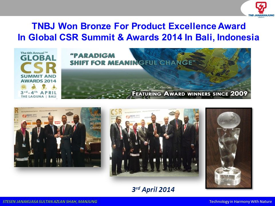 TNBJ Won Bronze For Product Excellence Award