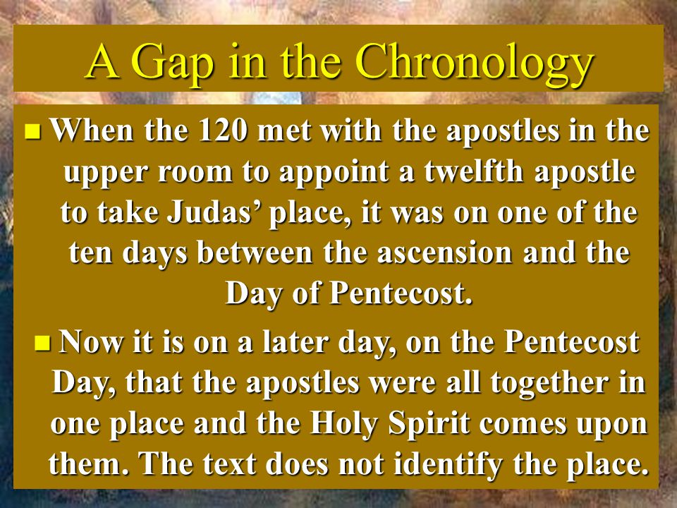 A Gap in the Chronology