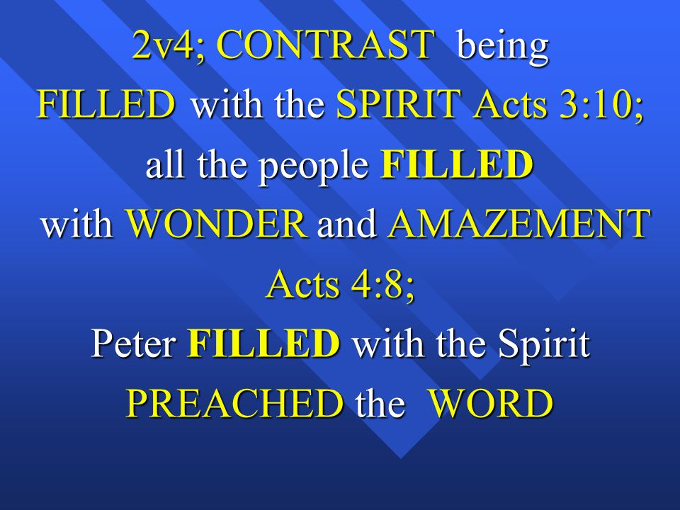 FILLED with the SPIRIT Acts 3:10; all the people FILLED
