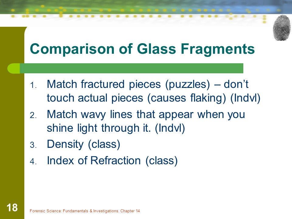 Comparison of Glass Fragments