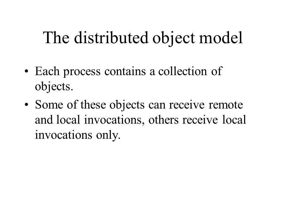 The distributed object model