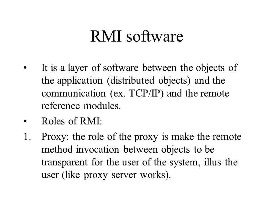 RMI software