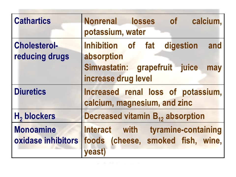 Nonrenal losses of calcium, potassium, water