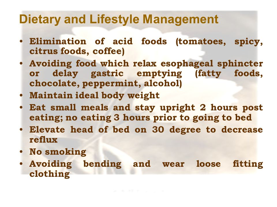 Dietary and Lifestyle Management