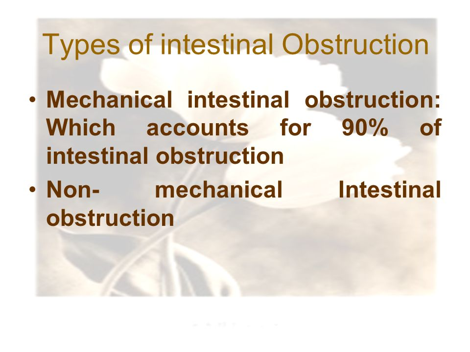 Types of intestinal Obstruction