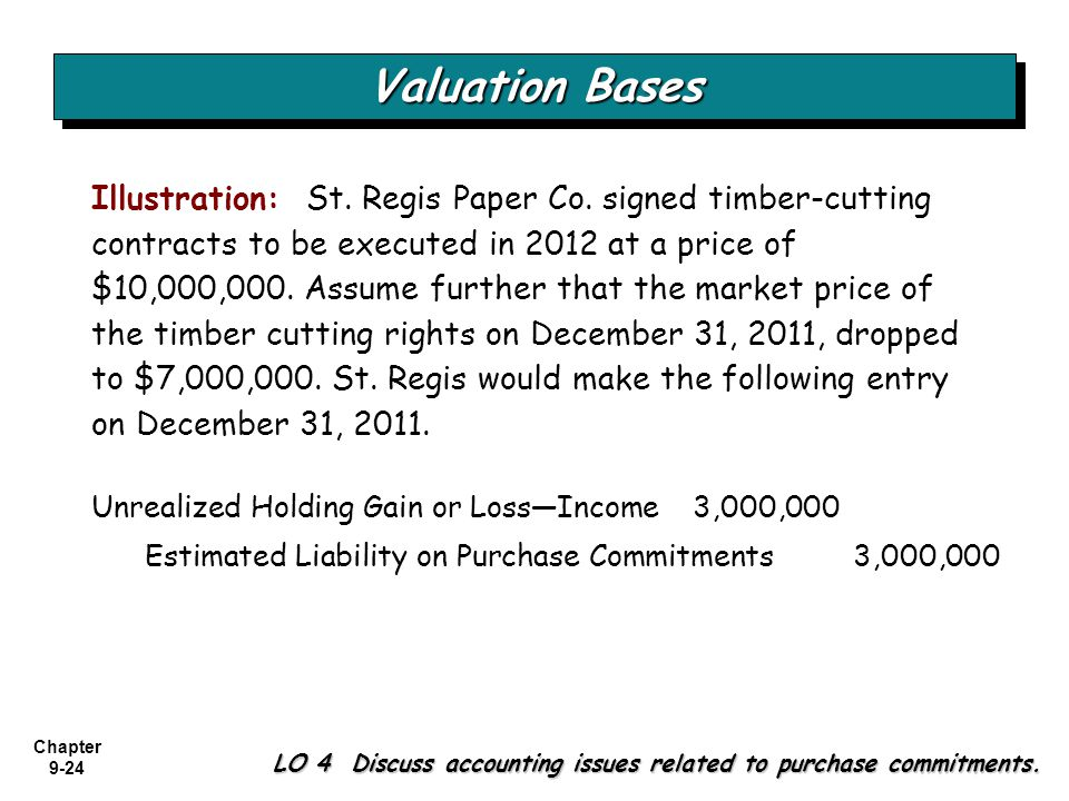 Valuation Bases