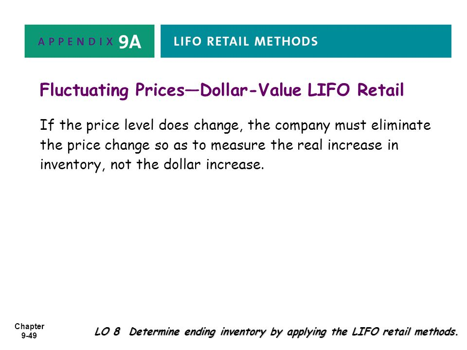 Fluctuating Prices—Dollar-Value LIFO Retail