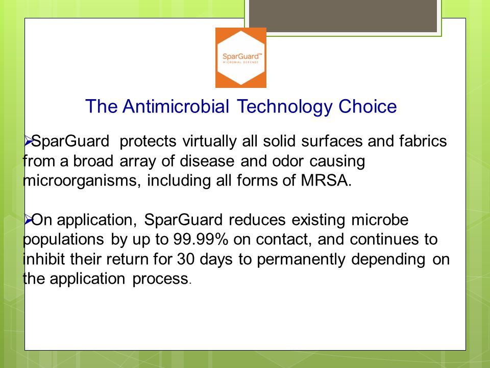 The Antimicrobial Technology Choice