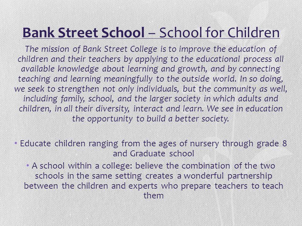 Bank Street School – School for Children