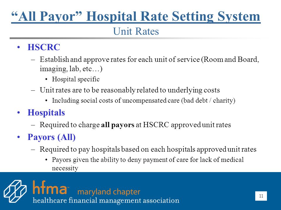 All Payor Hospital Rate Setting System Illustration