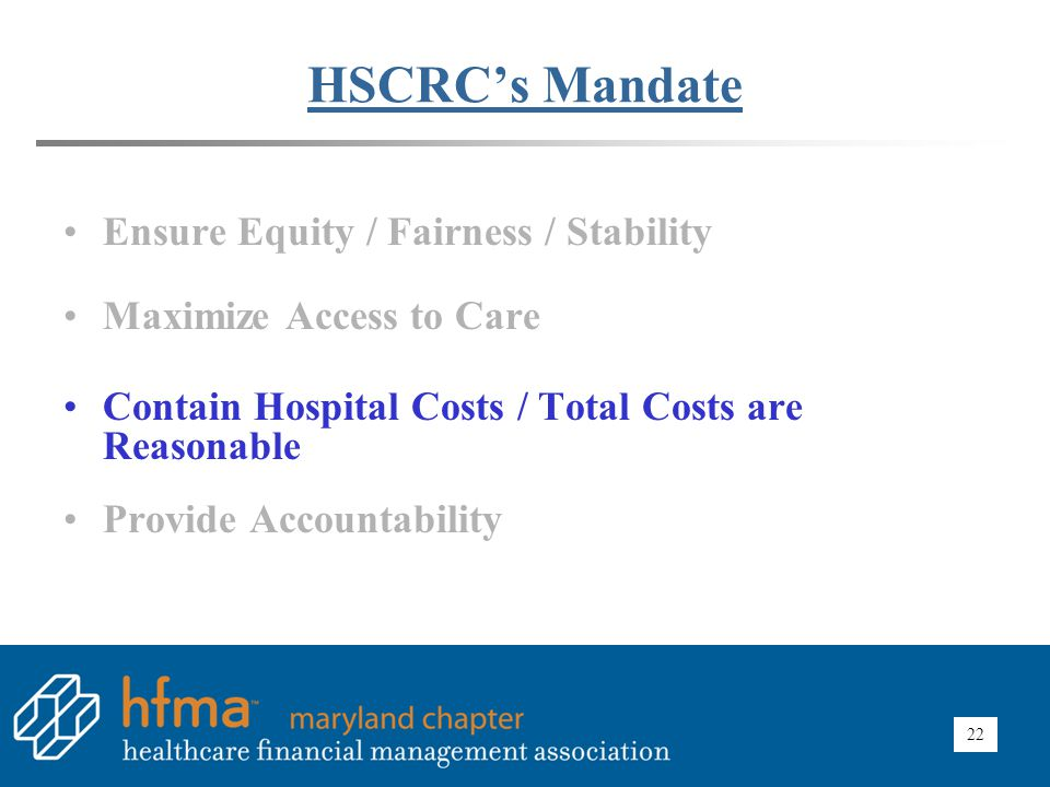 HSCRC Impact – Control Costs Difference in Cost per Case: Maryland vs