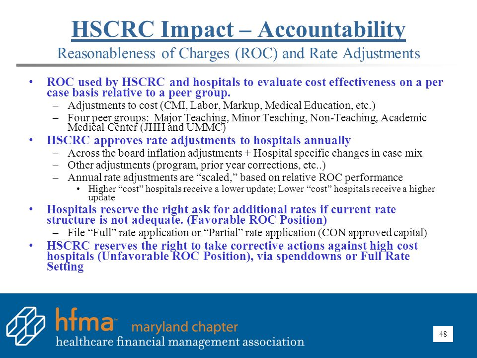 HSCRC Impact – Accountability Disclosure of Information and Performance