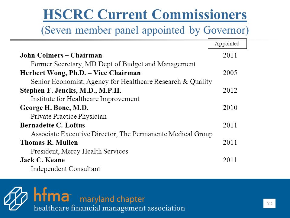 HSCRC 2014 Meeting Schedule