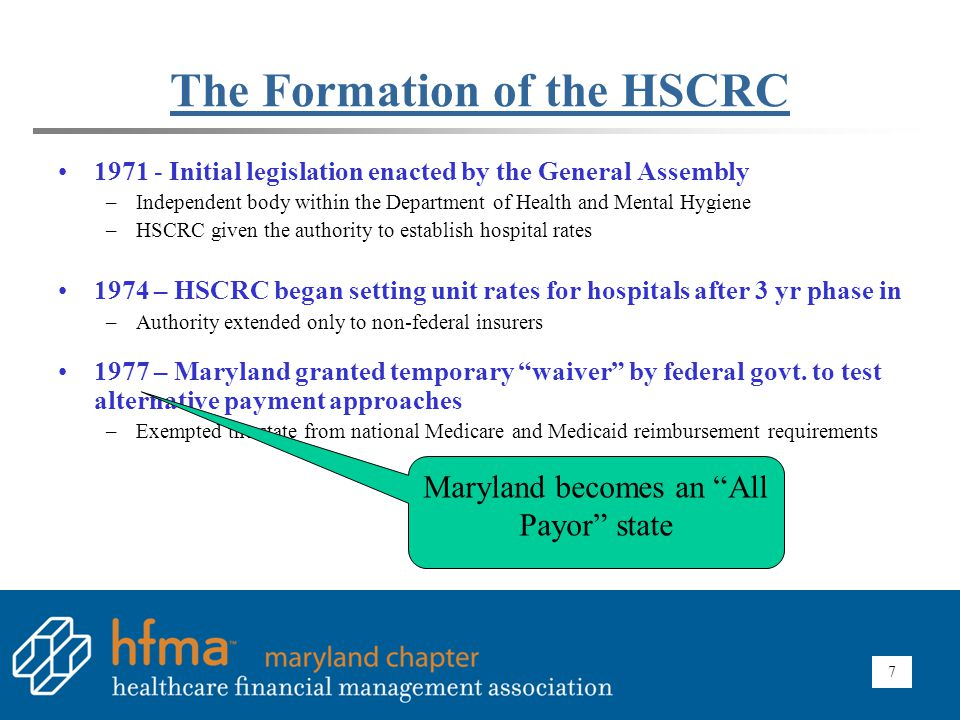 The Formation of the HSCRC