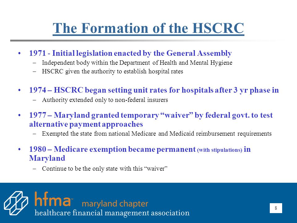 HSCRC's Mandate Ensure Equity / Fairness / Stability