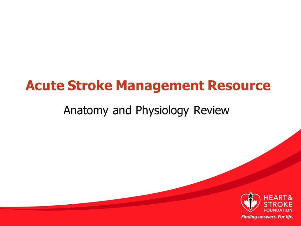 Acute Stroke Management Resource