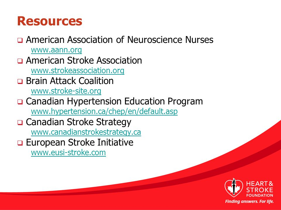 Resources American Association of Neuroscience Nurses