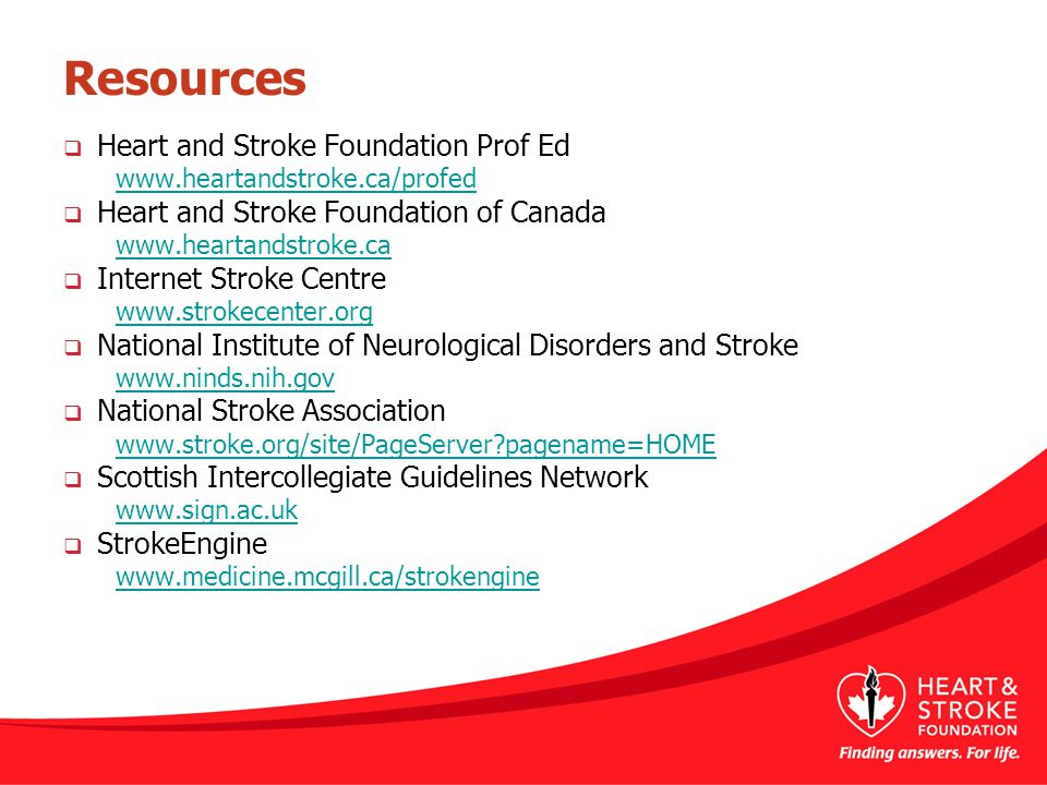 Resources Heart and Stroke Foundation Prof Ed
