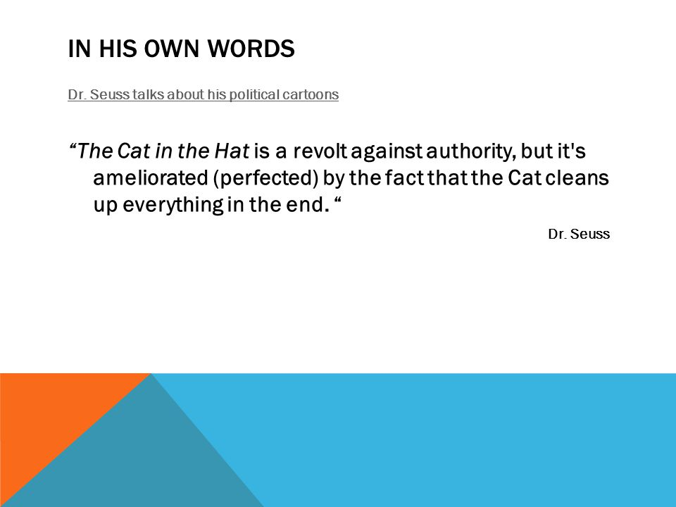 In his own Words Dr. Seuss talks about his political cartoons.