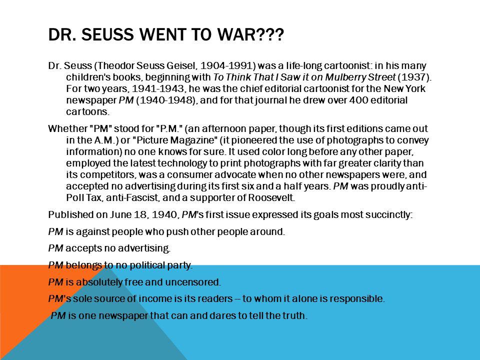 Dr. Seuss went to War