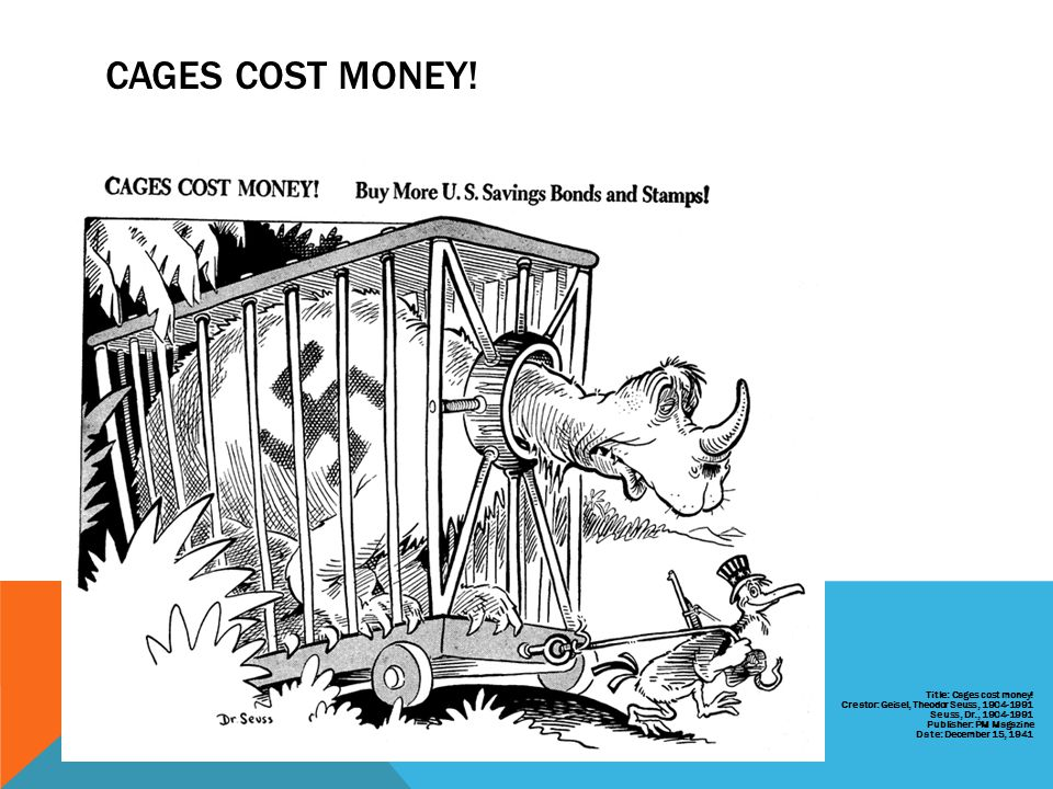 CAGES COST MONEY!
