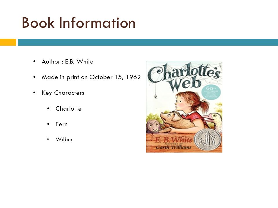 Book Information Author : E.B. White Made in print on October 15, 1962
