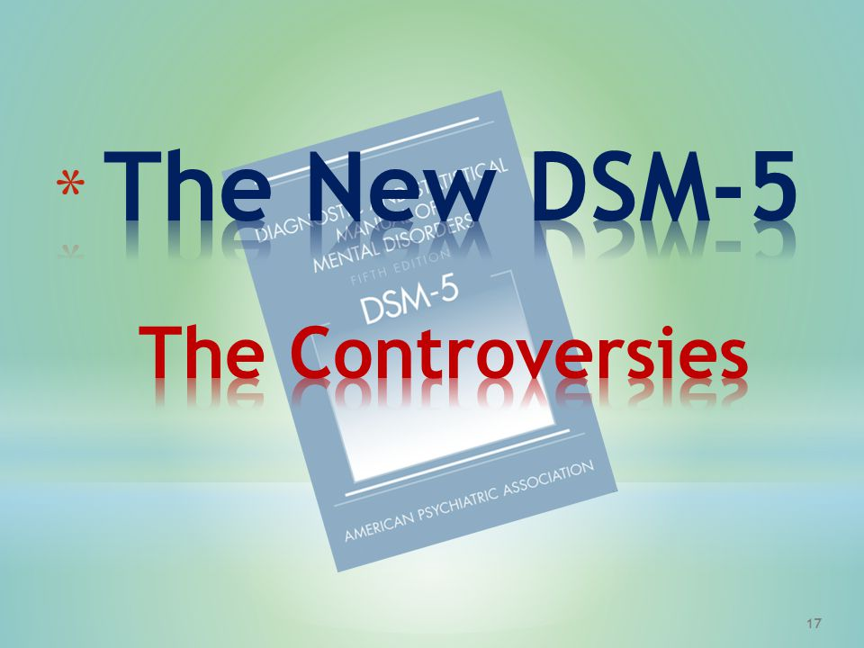 The New DSM-5 The Controversies