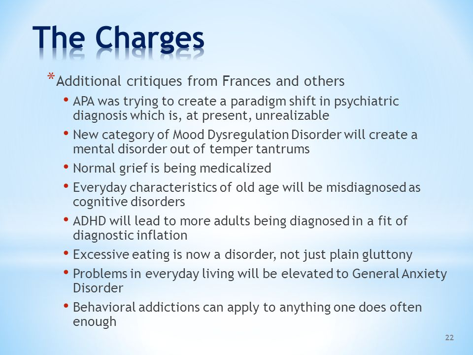 The Charges Additional critiques from Frances and others
