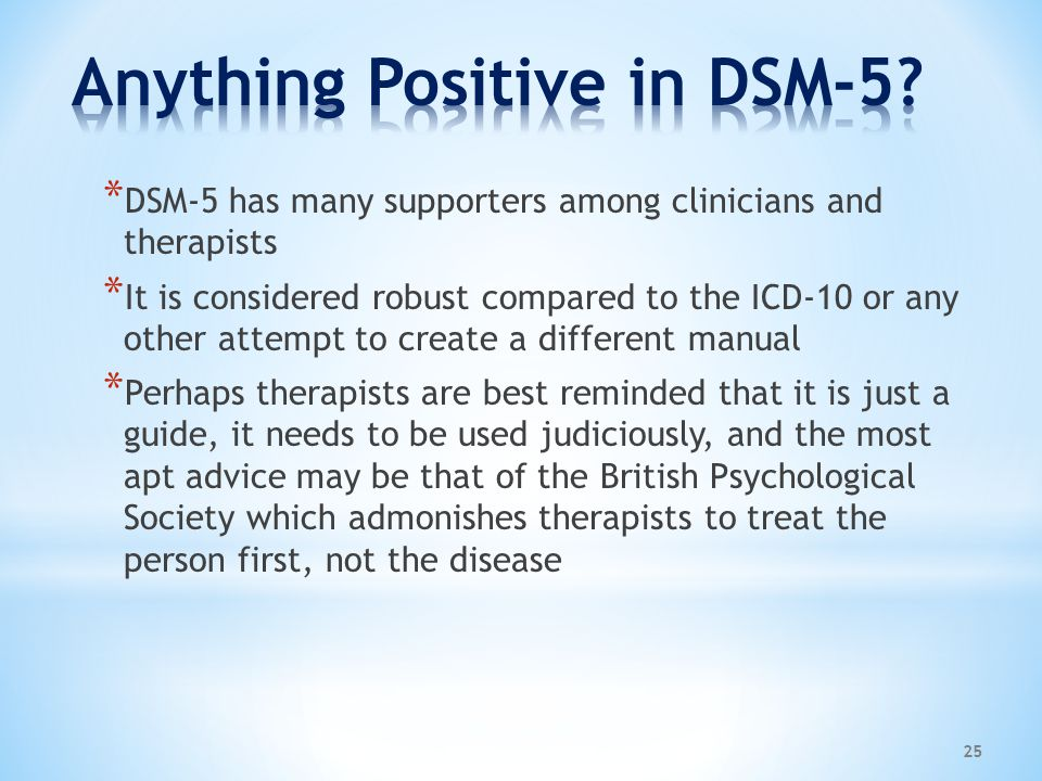 Anything Positive in DSM-5