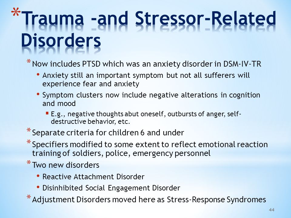 Trauma -and Stressor-Related Disorders