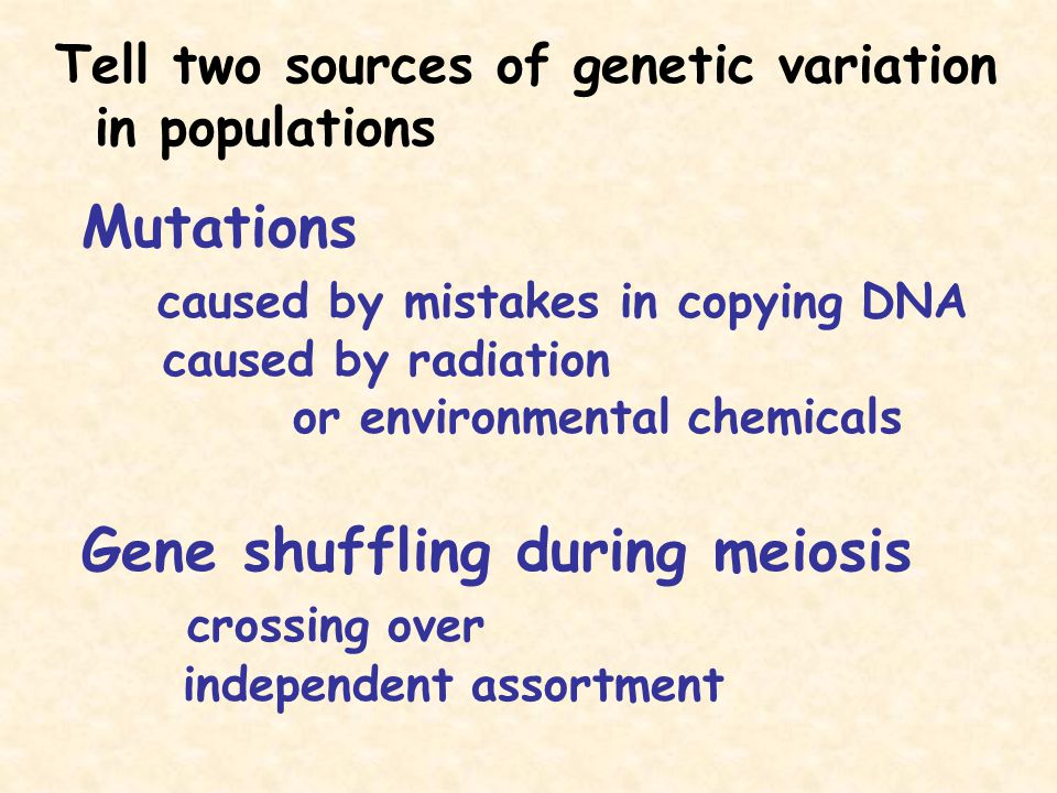 caused by mistakes in copying DNA caused by radiation