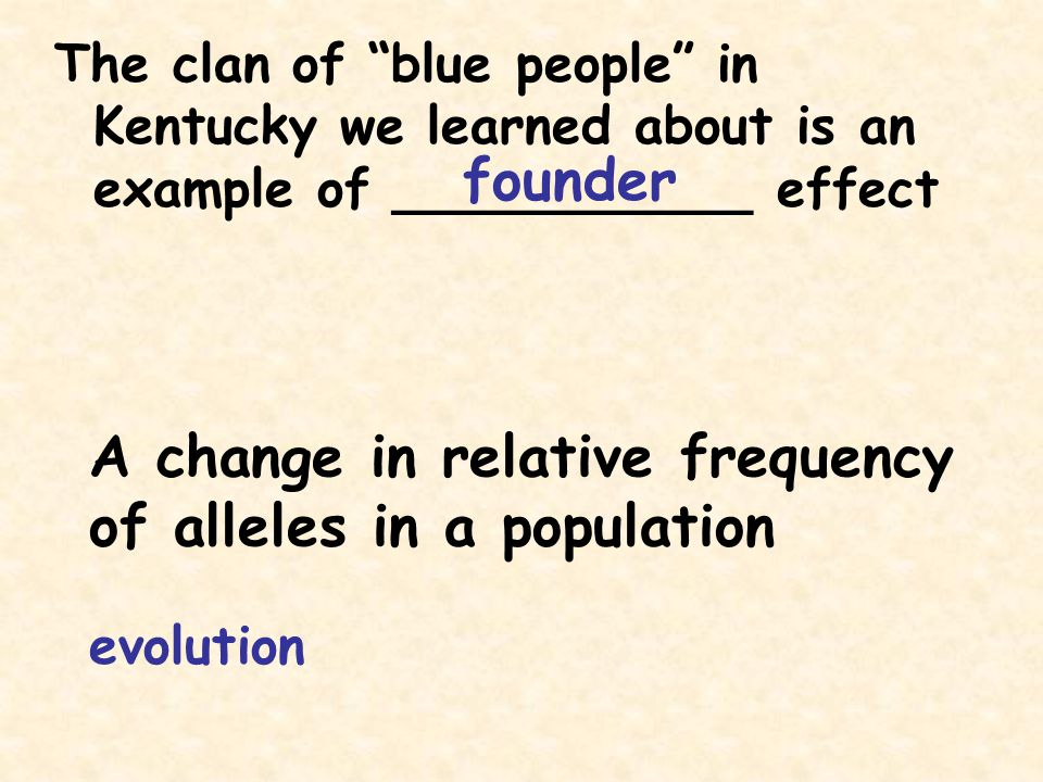 A change in relative frequency of alleles in a population