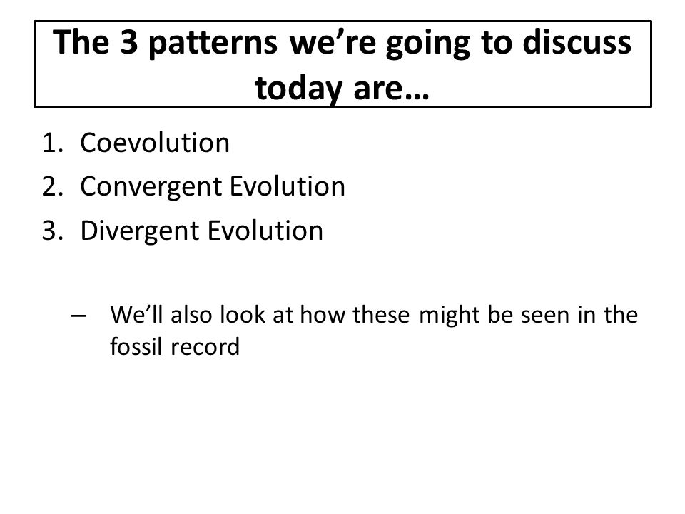 The 3 patterns we're going to discuss today are…