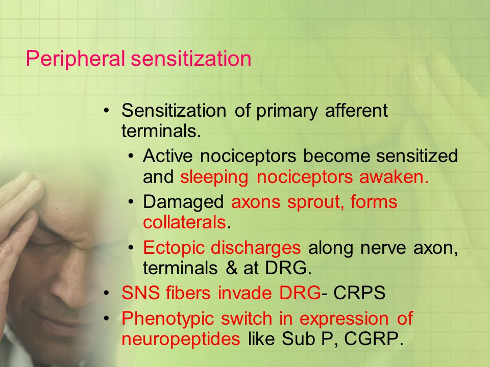 Peripheral sensitization