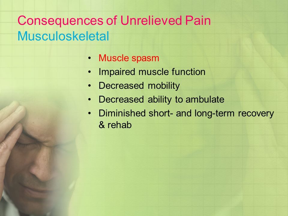 Consequences of Unrelieved Pain Musculoskeletal