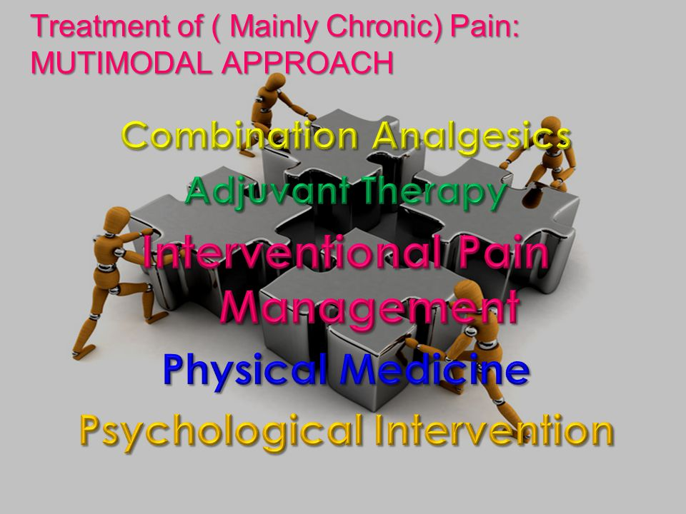 Treatment of ( Mainly Chronic) Pain: MUTIMODAL APPROACH