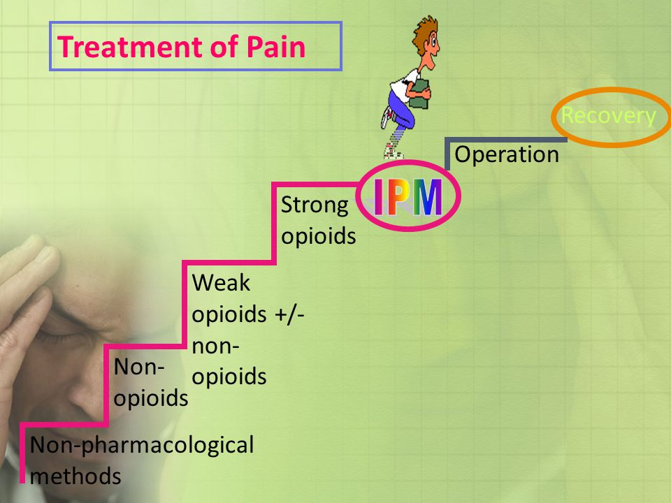 Treatment of Pain IPM Recovery Operation Strong opioids