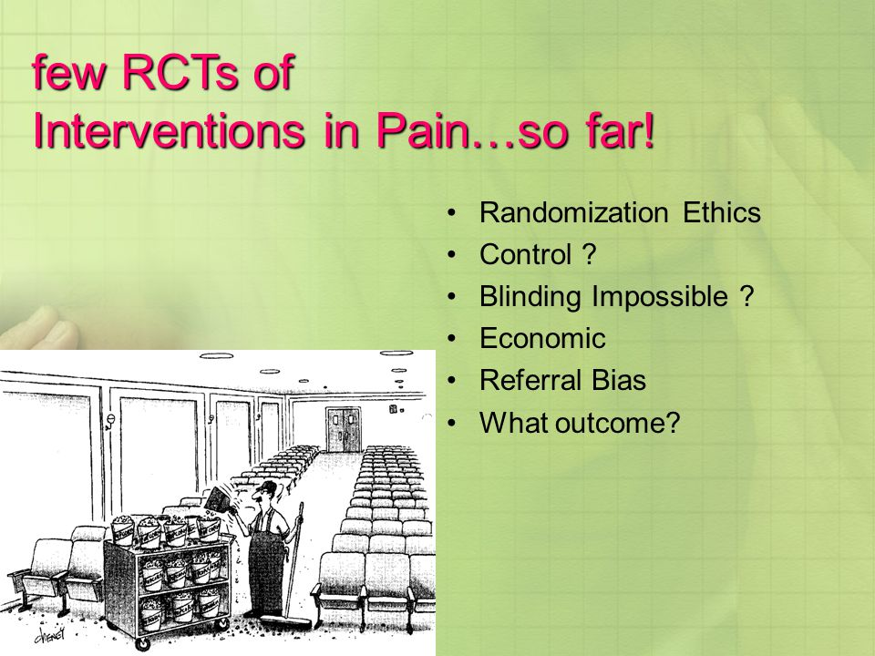 Interventions in Pain…so far!
