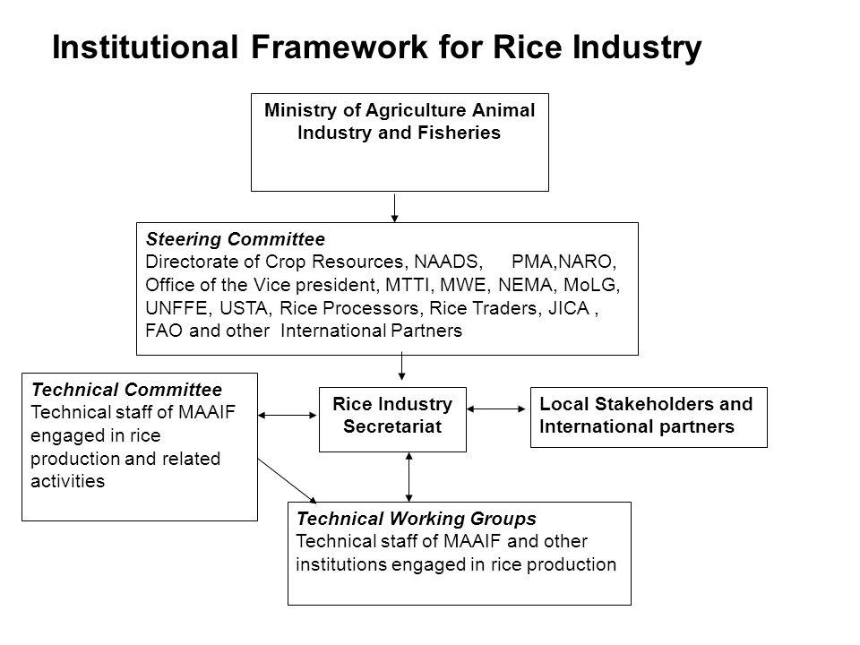 Institutional Framework for Rice Industry