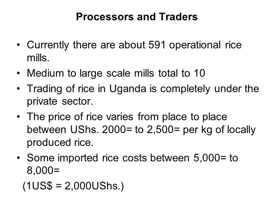 Processors and Traders