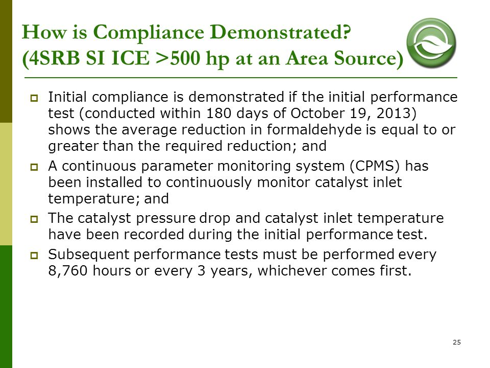 How is Compliance Demonstrated