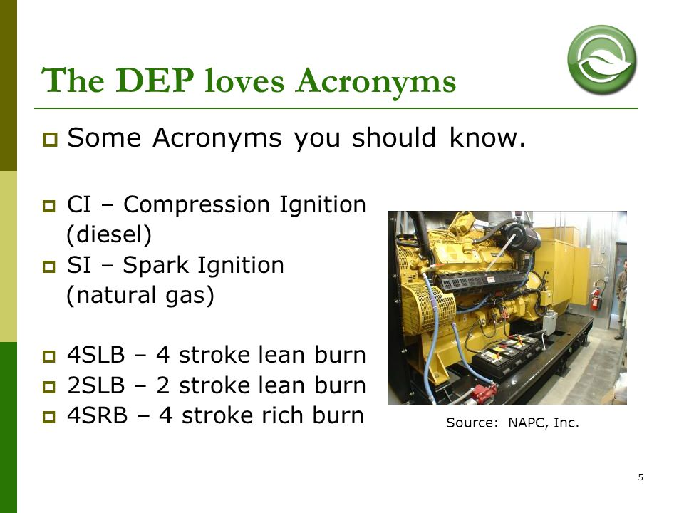 The DEP loves Acronyms Some Acronyms you should know.