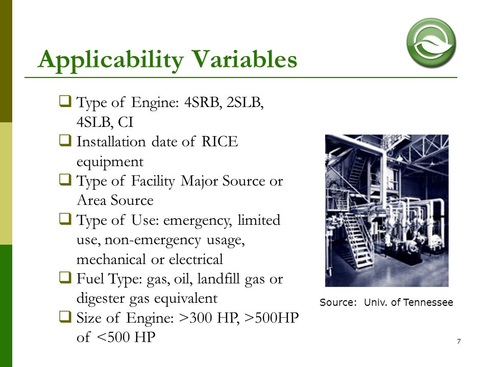 Applicability Variables