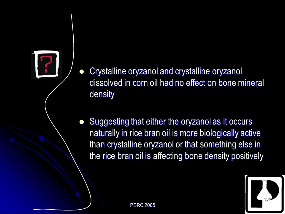 Crystalline oryzanol and crystalline oryzanol dissolved in corn oil had no effect on bone mineral density
