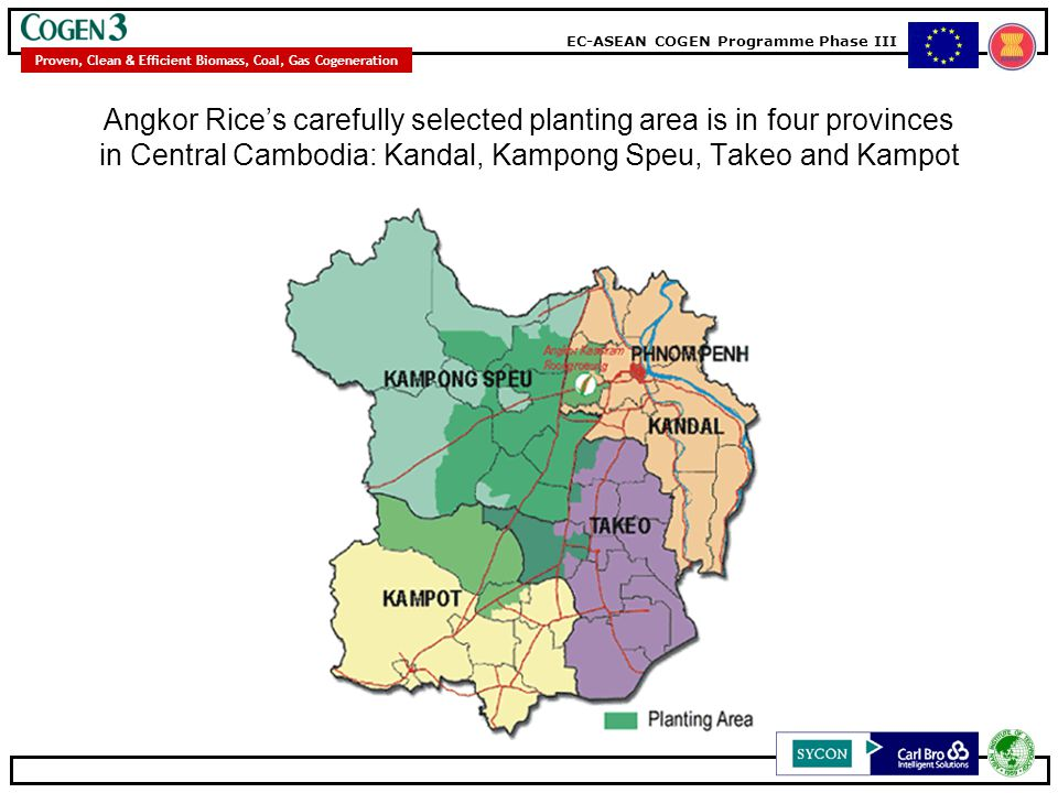 Angkor Rice's carefully selected planting area is in four provinces in Central Cambodia: Kandal, Kampong Speu, Takeo and Kampot